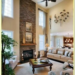 2 Story Accent Wall Ideas Living Room