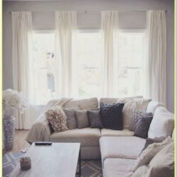 3 Window Living Room Curtain Ideas