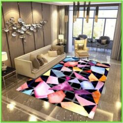 Abstract Rug Living Room Ideas