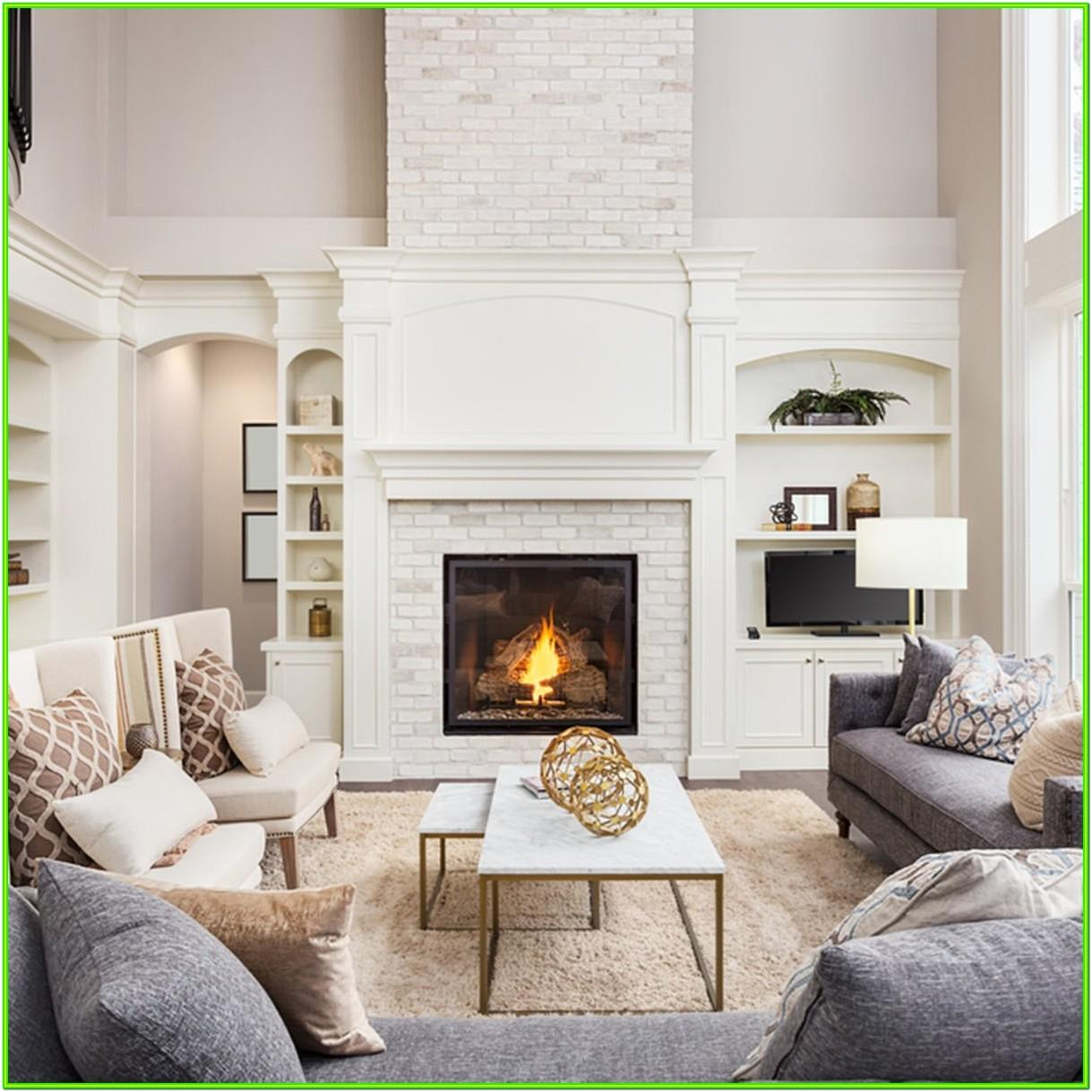Accent Wall Living Room With Fireplace Ideas
