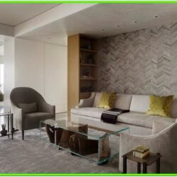 Accent Wall Tile Ideas Living Room