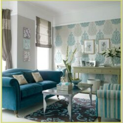 Aqua Blue Walls Living Room Ideas 1