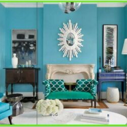 Aqua Blue Walls Living Room Ideas