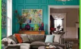Aquamarine Living Room Ideas