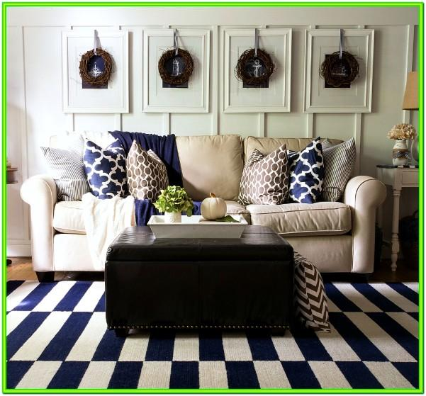 Autumn Living Room Ideas Navy Blue Sofa