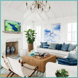 Beach Cottage Living Room Design Ideas 1