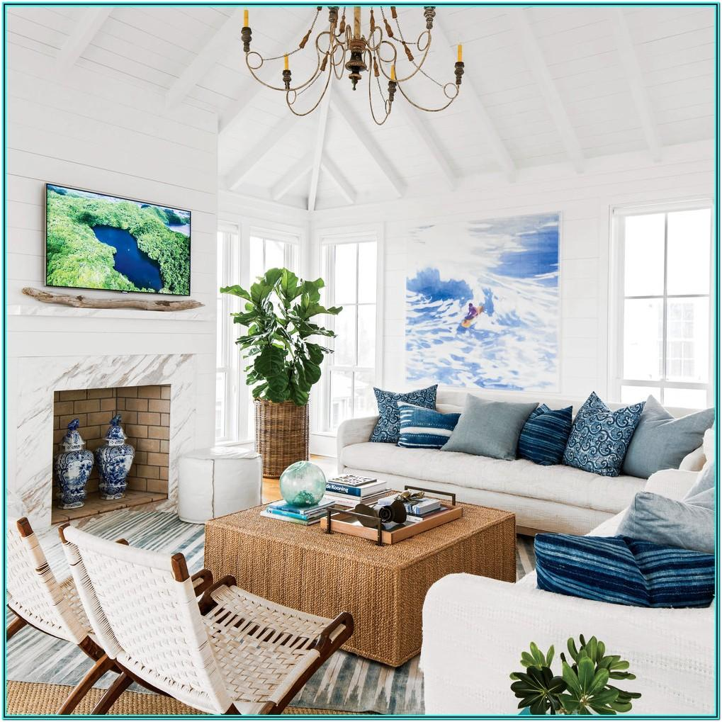 Beach Cottage Living Room Design Ideas