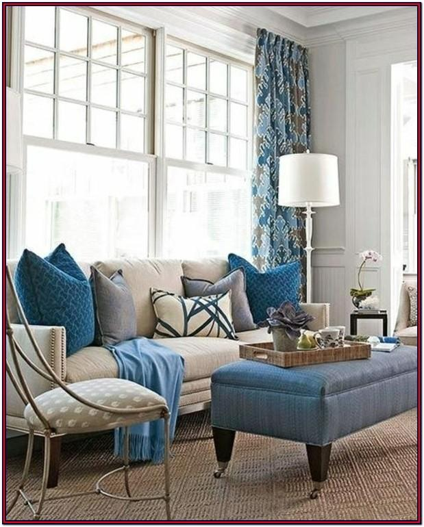 Beige Gray And Blue Living Room Ideas