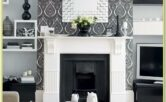 Black Wallpaper Ideas For Living Room Feature Wall