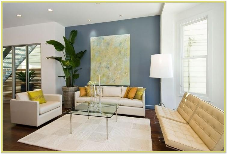 blue accent wall living room ideas