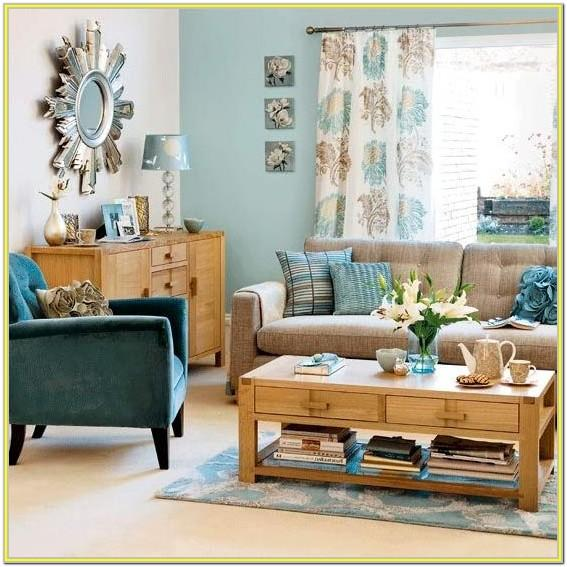 blue and brown living room ideas pinterest