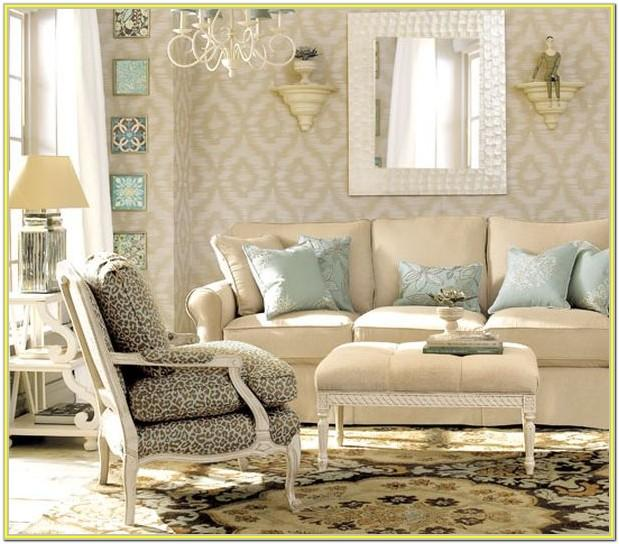 Blue Beige Living Room Decorating Ideas