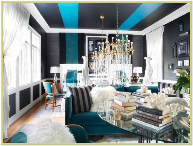 Blue Black And White Living Room Ideas