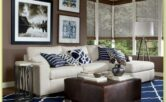 Blue Brown Living Room Ideas