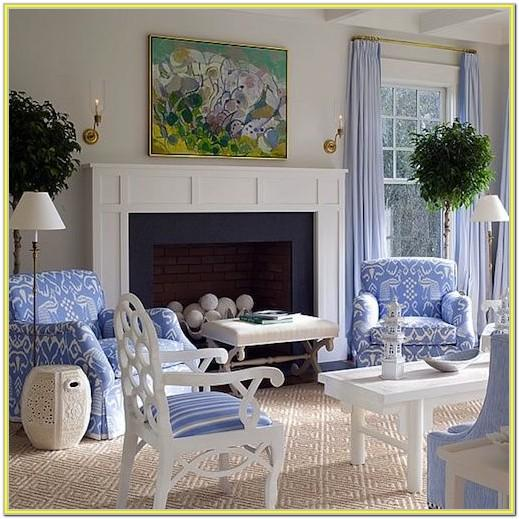 Blue Chairs Dining Matching Living Room Idea