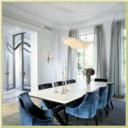 Blue Chairs Dining Matcing Living Room Idea