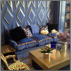 Blue Gold And Brown Living Room Ideas 1