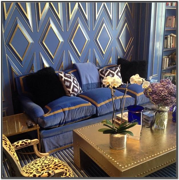 Blue Gold And Brown Living Room Ideas
