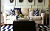 Blue Green Brown Living Room Ideas