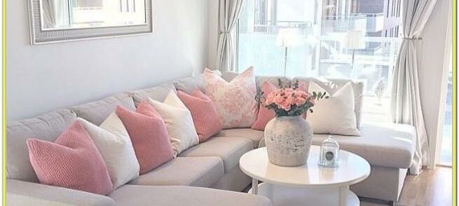Blush Pink And Beige Living Room Ideas