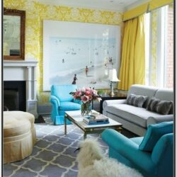 Bright Blue Living Room Ideas