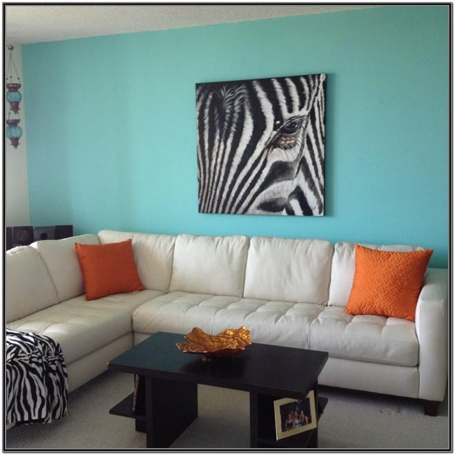 Brown And Tiffany Blue Living Room Ideas