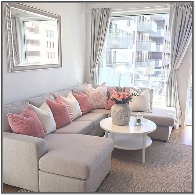 Brown Grey Pink Living Room Ideas