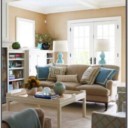 Brown Turquoise Living Room Ideas