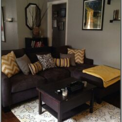 Brown Yellow Tweed Sofa Living Room Ideas