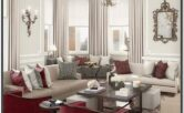 Burgundy And White Living Room Ideas