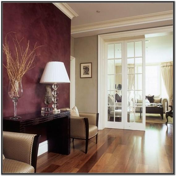 Burgundy Walls Living Room Ideas