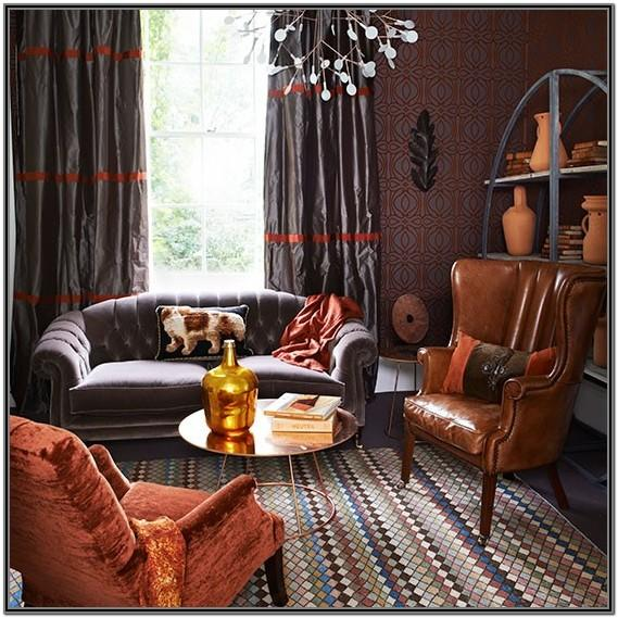 Burnt Orange And Grey Living Room Ideas