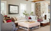 Cabin Living Room Couches Idea