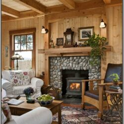 Cabin Wood Living Room Ideas