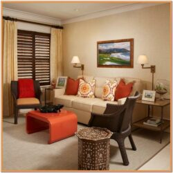 Chocolate And Burnt Orange Living Room Ideas