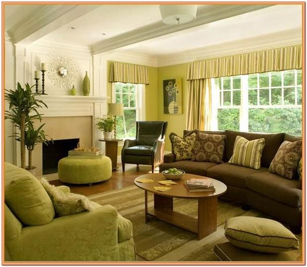Chocolate And Green Living Room Ideas
