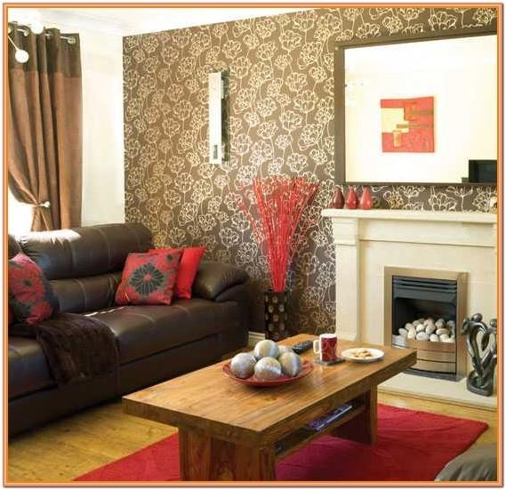 Chocolate Brown Brown And Red Living Room Ideas