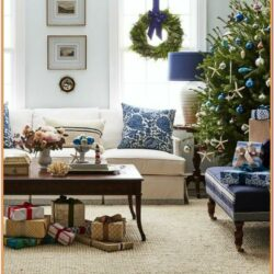 Christmas Living Room Drawing Ideas