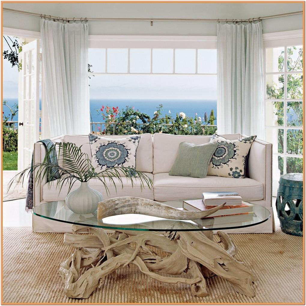 Coastal Living Room Curtain Ideas