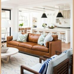 Cognac Sofa Living Room Ideas