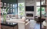 Contemporary Fireplace Living Room Design Ideas