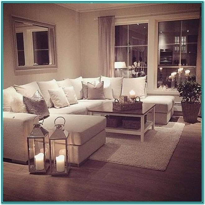 cosy living room ideas brown sofa 1