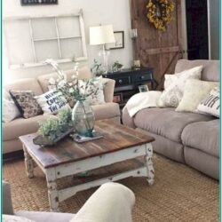 Cosy Modern Farmhouse Living Room Ideas