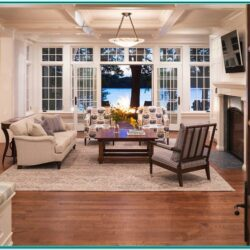 Cottage Lake House Living Room Recliner Ideas