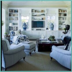 Country Blue Living Room Ideas