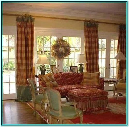 Country Curtain Ideas For Living Room