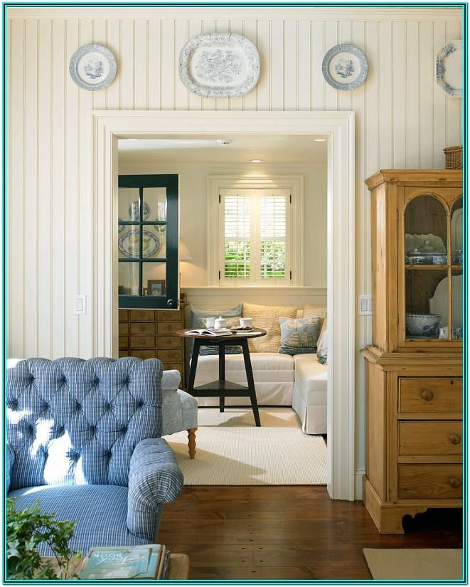 Country Living Room Beadboard Ideas
