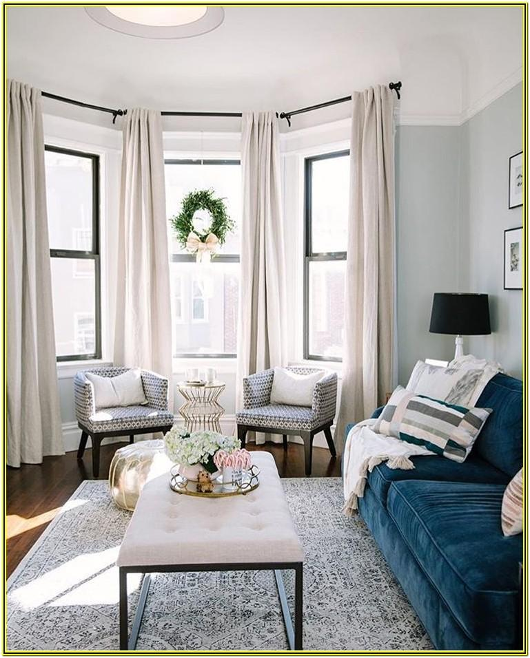 Curtain Ideas For Living Room With 3 Windows
