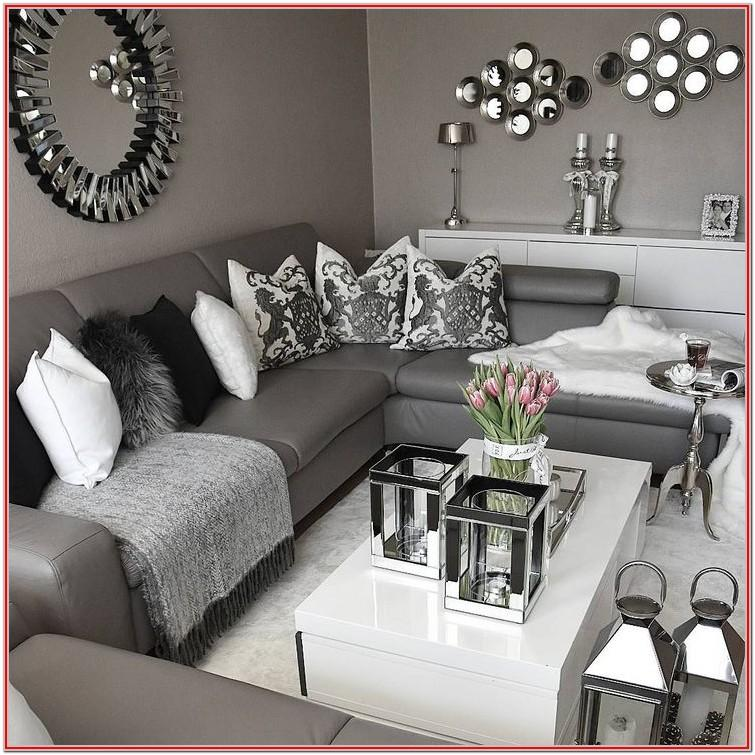 Dark Grey And White Living Room Ideas
