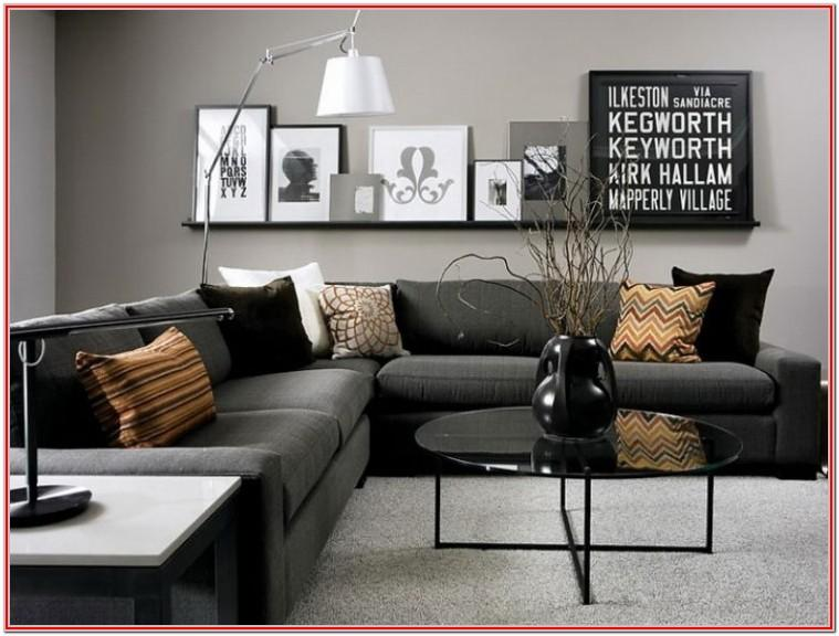 Dark Grey Grey Couch Living Room Ideas
